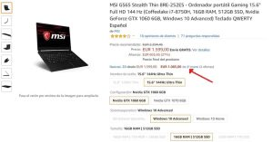 MSI GS65 Stealth Thin 8RE-252ES segunda mano