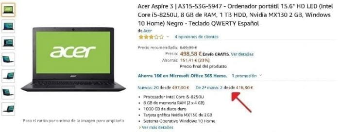 Acer Aspire 3 A315-53G-5947 segunda mano