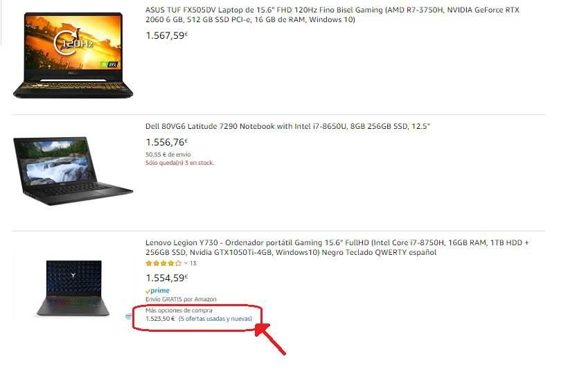 Laptop por 1500 euros segunda mano